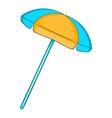 Sun umbrella icon flat style vector image vector image