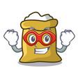 super hero flour character cartoon style vector image
