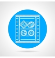 Sushi blue round icon vector image vector image
