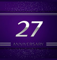twenty seven years anniversary celebration design vector image vector image