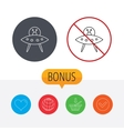 UFO icon Unknown flying object sign vector image vector image