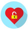unlock heart vector image vector image