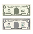 usa banking currency cash symbol 1 dollar bill vector image vector image