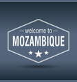 welcome to mozambique hexagonal white vintage vector image vector image