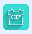 white line ussr t-shirt icon isolated with long vector image vector image