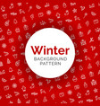 winter background pattern red and white vector image vector image