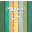 Wood realistic colorful texture design vector image vector image