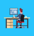 business man sit at office desk working at vector image