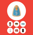 flat icon food set of canned chicken bottle vector image
