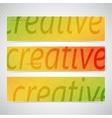 Colorful Horizontal Set Of Banners Modern vector image