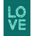 emerald green plants love text frame vector image
