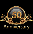 50 years anniversary birthday in gold vector | Price: 1 Credit (USD $1)
