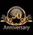 50 years anniversary birthday in gold
