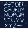 ABC light font letter design vector image vector image