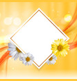 abstract natural floral frame background wth vector image vector image