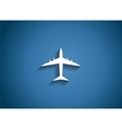 Airplane Glossy Icon vector image