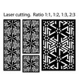 arabesque panel laser cutting template vector image vector image