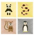 assembly flat shading style icons panda bear vector image vector image