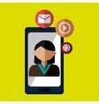 avatar smartphone play vector image