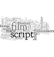 average length feature film scripts vector image vector image