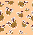 background pattern deer with various funny vector image