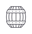 barrel line icon sign on vector image