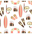 beach holiday design pattern vector image vector image