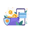 bitcoin wallet security vector image