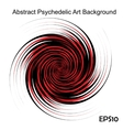 Black and Red hypnotic background vector image