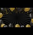 black friday sale design balloon background vector image vector image