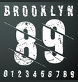 brooklyn numbers vintage t-shirt stamp vector image vector image
