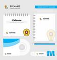 bulb with gear logo calendar template cd cover vector image