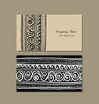 business cards design ethnic handmade ornament vector image vector image