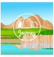 Camping journey concept vector image vector image