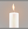 candle flame on transparent background vector image