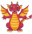 Cartoon funny dragon vector image vector image
