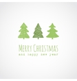 Christmas card with decorative christmas trees vector image