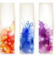 Collection of colorful abstract watercolor banners vector | Price: 1 Credit (USD $1)
