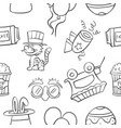 collection stock of circus object doodles vector image vector image