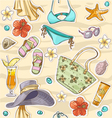 color seamless background on a beach theme goggles vector image vector image
