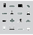 computer peripherals stickers eps10 vector image