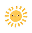 cute happy summer sun character with funny smiling vector image vector image