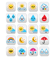 Cute sun rainbow moon rain and cloud - Kawaii vector image vector image