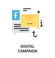 digital campaign icon concept vector image