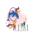 dolphinarium concept for web banner vector image