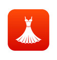 dress icon digital red vector image vector image