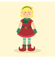 Elf Christmas Blonde Girl vector image