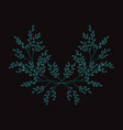 embroidery floral decoration vector image
