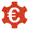 euro industry icon grunge watermark vector image