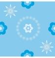 Floral blue pattern vector image